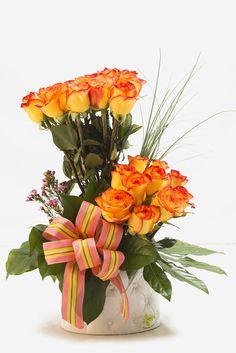 Rosas amarillas y Naranja. Florenzza Santo Domingo