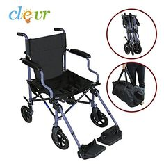 Clevr Medical Aluminum Transport Chair Wheelchair 19 Lightweight Foldable Gray *** Locate the offer simply by clicking the image