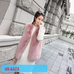 Women Full Pelt Fall Gilet Real Fox Fur Fashion New Coat High Quality Over Size Vest For Female Luxury Style