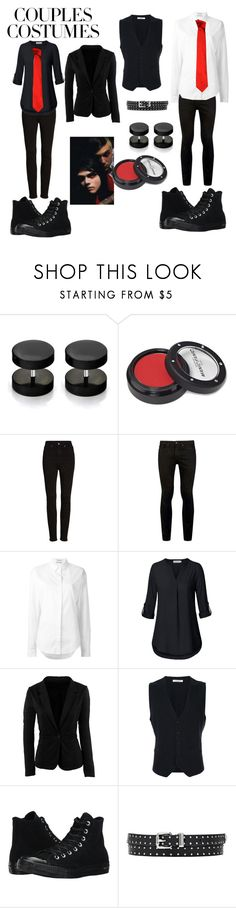 """Gerard and Frank revenge era (gender bender for Gerard)"" by topmcrpatdfob ❤ liked on Polyvore featuring Manic Panic NYC, Good American, Topman, Anthony Vaccarello, WithChic, United Arrows, Converse and Versace"
