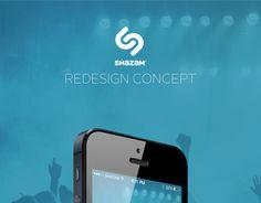 Shazam. Redesign concept.