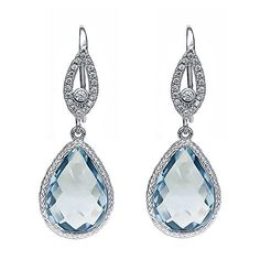 Cheap Gift Gifts Buy Quality Jewelry Directly From China Silver Suppliers Gem Stone King Pear Shaped Checkerboard Simulated Aquamarine 925