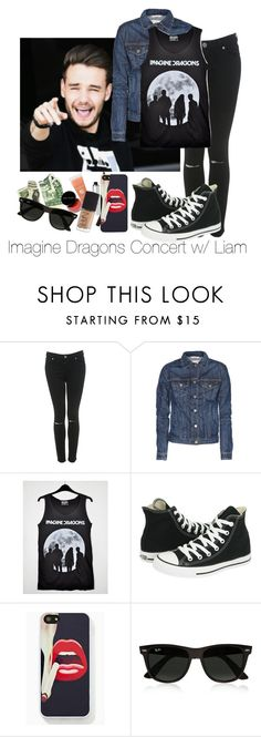 """Imagine Dragons Concert w/ Liam"" by nathymodel ❤ liked on Polyvore featuring Miss Selfridge, rag & bone, INDIE HAIR, Converse and Ray-Ban"