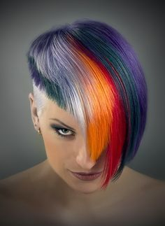 Multi color hair