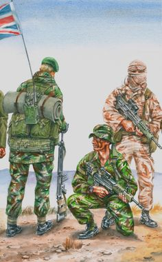 Detail of watercolour illustration of Royal Marines uniforms. Royal Marines Uniform, British Army Uniform, British Soldier, Military Weapons, Military Art, Military History, British Royal Marines, British Armed Forces, Commonwealth