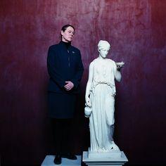 Hebe - Monica Thon, board member Psych, Board Member, Eagle, Museum, Statue, Portrait, Art, Sculpture, Kunst