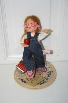 """LOGO Annalee Doll Society 1992 with tag measures approx: 7.5"""" $20"""