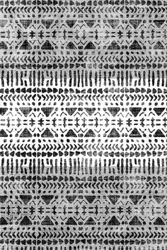 Southewest Tribal Onyx by holli_zollinger - Black and white mudcloth pattern on fabric, wallpaper, and gift wrap. Intricate hand drawn mudcloth sketch.