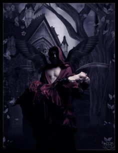 Casting Of The Moon by *silentfuneral on deviantART Gothic Angel, Gothic Vampire, Dark Gothic, Gothic Art, Fantasy Love, Dark Fantasy, Fantasy Art, Male Angels, Angels And Demons