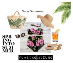 Nude Swimwear by yumeikomizuno on Polyvore featuring J.Crew, Old Navy, Summer, bikini, retro and holidays