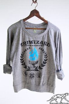 Harry Potter Woman's SLOUCHY PULLOVER - Blue Flame of the Goblet of Fire Spits Out Harry Potter's Name in the TriWizard Tournament on Etsy, $38.00