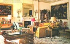 Robert Kime (designer to Prince of Wales at Clarence House. Garden room at Clarence House Clarence House, Chinoiserie, Royal Room, British Decor, Regency Furniture, Modern Furniture, Furniture Design, English Country Decor, French Country