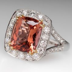 This Richard Krementz ring features a stunning 7 carat untreated Imperial topaz. The topaz has outstanding color and is eye clean with a very good cut grade and no windowing. It is absolutely magnificent and set perfectly to show off it's brilliance. High Jewelry, Modern Jewelry, Jewelry Rings, Jewellery, Topazio Imperial, Topaz Jewelry, Topaz Ring, Gems And Minerals, Ring Earrings