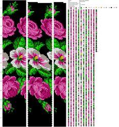 Crochet Bracelet Pattern, Crochet Beaded Bracelets, Bead Crochet Patterns, Seed Bead Patterns, Beaded Bracelet Patterns, Beading Patterns, Seed Bead Flowers, Beaded Flowers, Seed Bead Jewelry