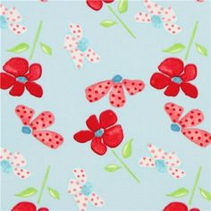 light blue flower fabric by Timeless Treasures