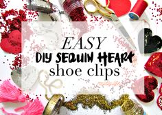 DIY Sequin Heart Clips