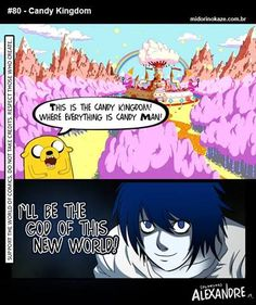 100 percent…So stupid but funny Deathnote L