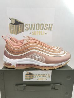 the latest b0300 5c8a0 NIKE WOMENS Air MAX 97 ULTRA  17 917704-902 METALLIC Red BRONZE Elm Shoe