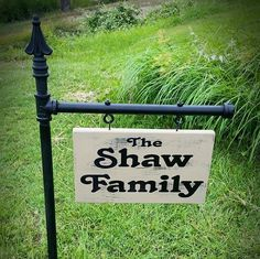 Yard Signs Personalized Yard Sign Garden Signs Family by SignChik