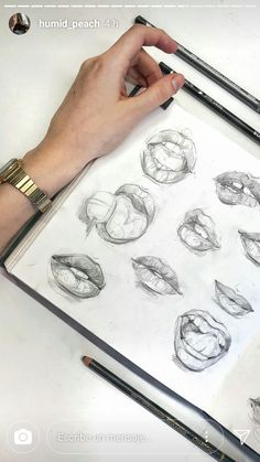 Lippen und Ausdrücke Lips and expressions Related posts:A fun community for sharing pictures. Discover amazing art and photography and shareWie zeichnet man Haare von Notepad Illustration of. Pencil Art Drawings, Art Drawings Sketches, Cool Drawings, Drawings On Hands, Realistic Drawings, Art Du Croquis, Sketch Inspiration, Art Hoe, Gcse Art