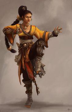 Sammi - humana monja do Templo da Calliandra que floresce à luz da lua minguante. Os homens do oeste queimaram seus irmãos. Piedade não é uma das palavras que a define. O mundo luta pela vida. Ela luta por vingança.