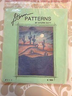 Vintage Desert Silhouettes Design Pattern 1989