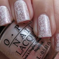 #wedding nail inspiration – what do you think?  Very cool, retro design!