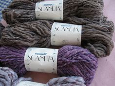Destash Yarn a Vintage Scandia from Bernat4 50 by magicwithyarns, $20.00 (Bernat Scandia - discontinued wool polyester blend bulky yarn)