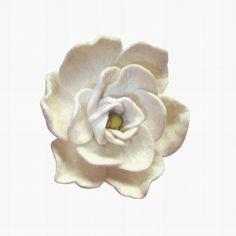 Felt Flower Brooch  pin Blooming white gardenia by lannarfelt, $26.00