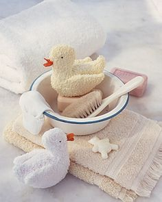 Wash cloth ducks