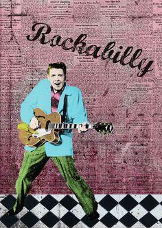 Eddie Cochran Rockabilly by Gecko73