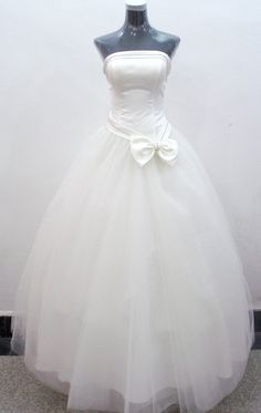 Princess Strapless Ball Gown wedding dress TULLE  made to by MyaKi, $345.99