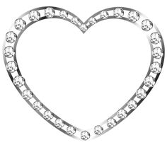 Silver Heart with Diamonds Free Clipart I Miss You Like, Heart Frame, Fantasy Dragon, Cute Pins, Rainbow Colors, Hearts, Clip Art, Bling, Adobe Photoshop