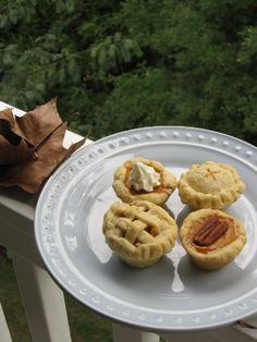 Mini-Pies: Pumpkin, Peach Crisp, and Sour Cream Apple