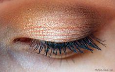 Mac All that Glitters. Clinique High Impact Mascara. Gold eyeshadows