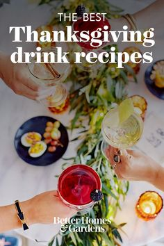 We're thinking cocktail hour is in order this Thanksgiving! Whether you pair these Thanksgiving drink recipes with your menu or enjoy them before or after the big meal, these Thanksgiving cocktails are sure to get the party started. #drinkrecipes #thanksgiving #cocktails #mocktails #punchrecipes #bhg Thanksgiving Cocktails, Thanksgiving Recipes, Punch Recipes, Drink Recipes, Classic Vodka Cocktails, Spanish Red Wine, Winter Sangria, Chai Recipe, Pomegranate Juice