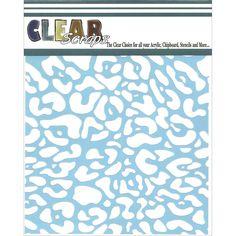 Clear Scraps Stencils CheetahClear Scraps Stencils Cheetah,