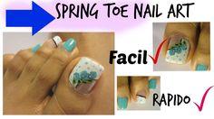 El color Turquesa muy favorable para la primavera en este video te comparto una manera super ideal para decorar las uñas de los pies Tendencias de ROSAS ,es ...