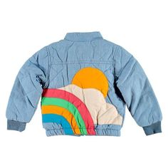 Sunrise Quilted Denim Jacket by Tootsa MacGinty - Junior Edition Look Fashion, Kids Fashion, Diy Vetement, Doja Cat, Look Vintage, Cotton Jacket, Quilted Jacket, Mode Inspiration, Look Cool