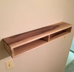 Floating Shelf with divider wood shelf rustic от SheltonWoodworks