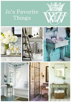 Jo's Favorite Things: Bathrooms #bathroom #home #decor #design