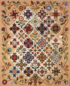 A beautiful Block of the Month with gorgeous applique :)