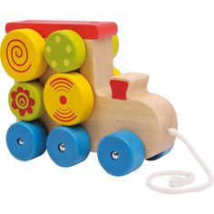 """Jucăria din lemn """"Locomotivă cu șnur"""" este realizată din lemn viu colorat. Micuțul tău va fi mai mult decât încântat de elementele rotative de pe locomotivă care se vor roti în timp ce locomotiva este în mișcare. #woodentoys #babytoys #jucariibebelusi #jucariidinlemn #jucariionline Locomotive, Baby Shop, Wooden Toys, Car, Minimum, Dimensions, Woodwind Instrument, Colors, Wooden Toy Plans"""
