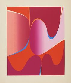Gunnar S. Gundersen Forde 1921 - Bærum 1983 Composition in Pink, 1970 Fargeserigrafi, cm Signed and dated lower right: Gunnar S. Edvard Munch, Sculptures, Fine Art, Artist, Composition, Prints, Photography, Painting, Pink