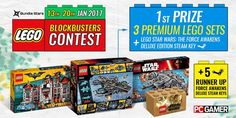 Prize (6 lucky winners):      1 randomly selected winner will receive the following LEGO prizes: LEGO Batman The Movie: Arkham Asylum set (RRP $150), LEGO Star Wars Millennium Falcon set (RRP $150), LEGO Marvel Super Heroes: The SHIELD Helicarrier (RRP $350). Plus a Steam key for LEGO Star Wars: The Force Awakens Deluxe Edition.     5 runners up with receive Steam keys for LEGO Star Wars: The Force Awakens Deluxe Editions. #game #giveaway #lego