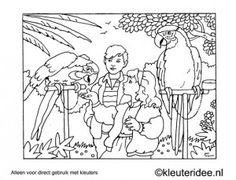 kleurplaat in de tuin kleuteridee preschool garden