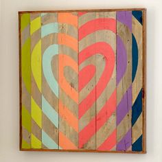 Heart Target Wood Art...I like this heart! It's rustic,modern,primitive and abstract ;Perfect for eclectic decorating!