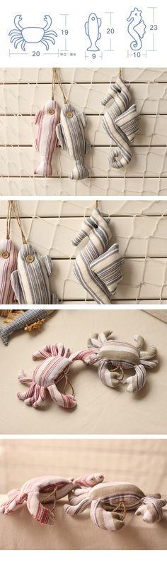 Vendas inteiras estilo mediterrâneo da marinha vive em algodão e linho arte artigos de decoração pingente caranguejo peixe em outros artigos têxteis de Casa & jardim no AliExpress.com | Alibaba Group