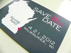 Save the Date Postcards Set of 48  Custom State by DefineDesign11, $59.00