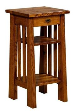 Amish Freemont Mission Phone Stand You can set up your phone for easy retrieval on this stylish solid wood phone stand. Handy lower shelf. Made with solid wood. #telephonetable #accenttable